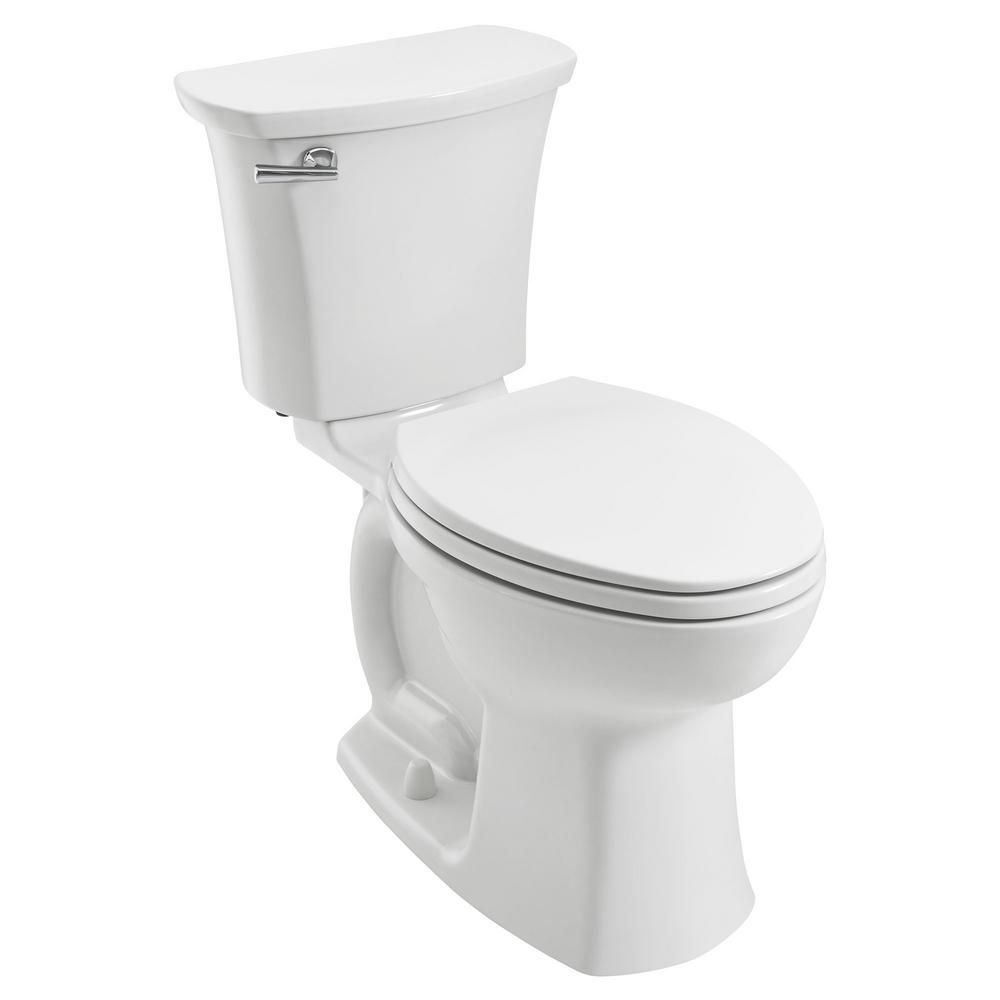 American Standard Edgemere 10 In Rough In 2 Piece 1 28 Gpf Single Flush Right Height Elongated Toilet In White Seat Not Included American Standard Toilet Toilet Installation