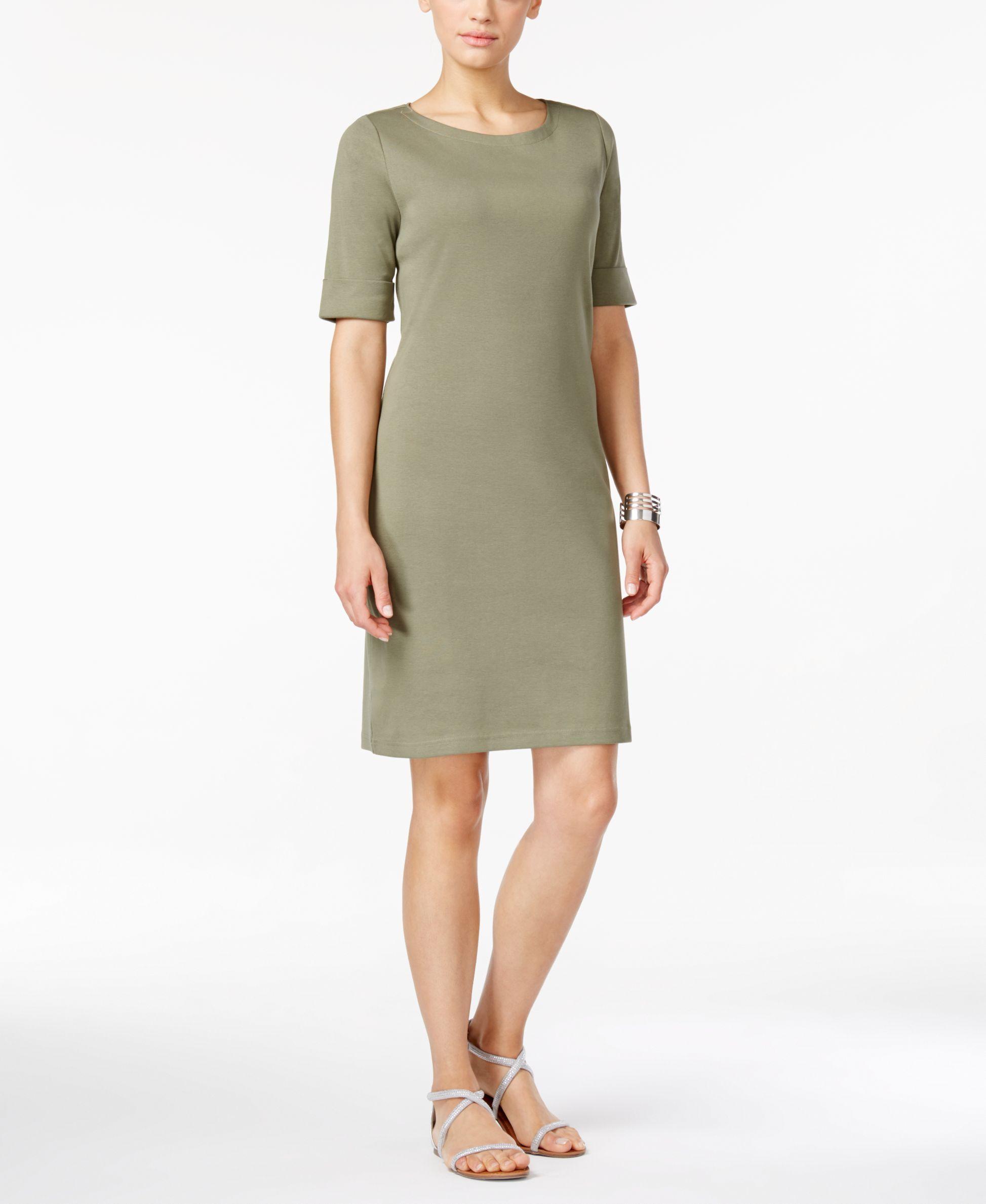 Karen scott tshirt dress created for macyus karen scott short