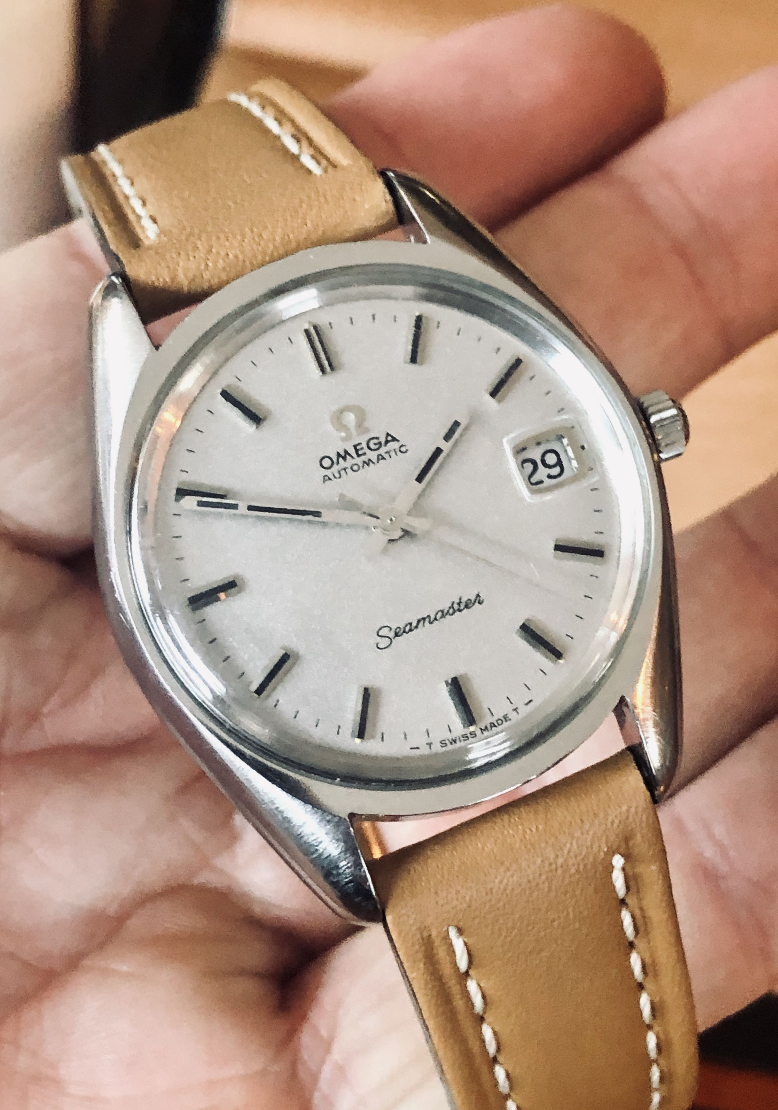 Omega Seamaster Vintage Grey Dial 1960s Steel Mens Automatic watch + New box