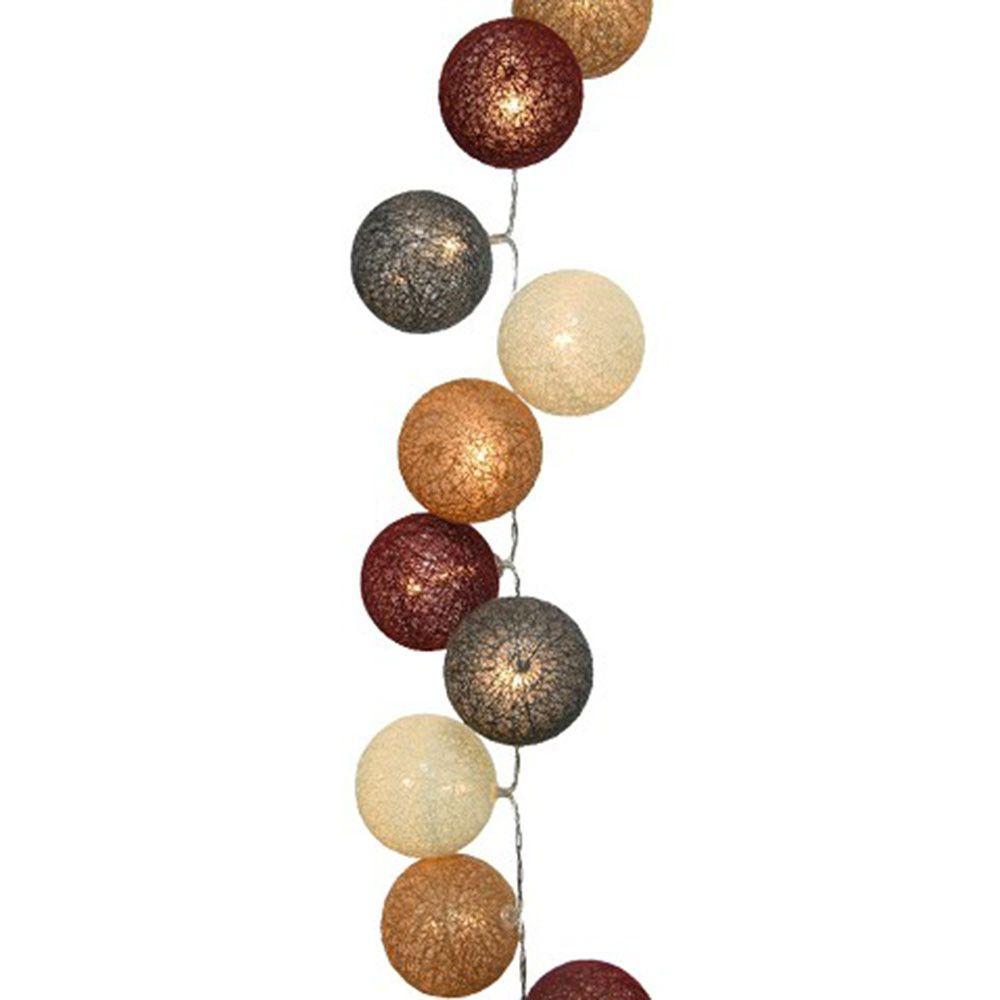 Lumineo lichtslinger cotton balls warmwit | Betaalbaarshoppen.nl #woonaccessoires