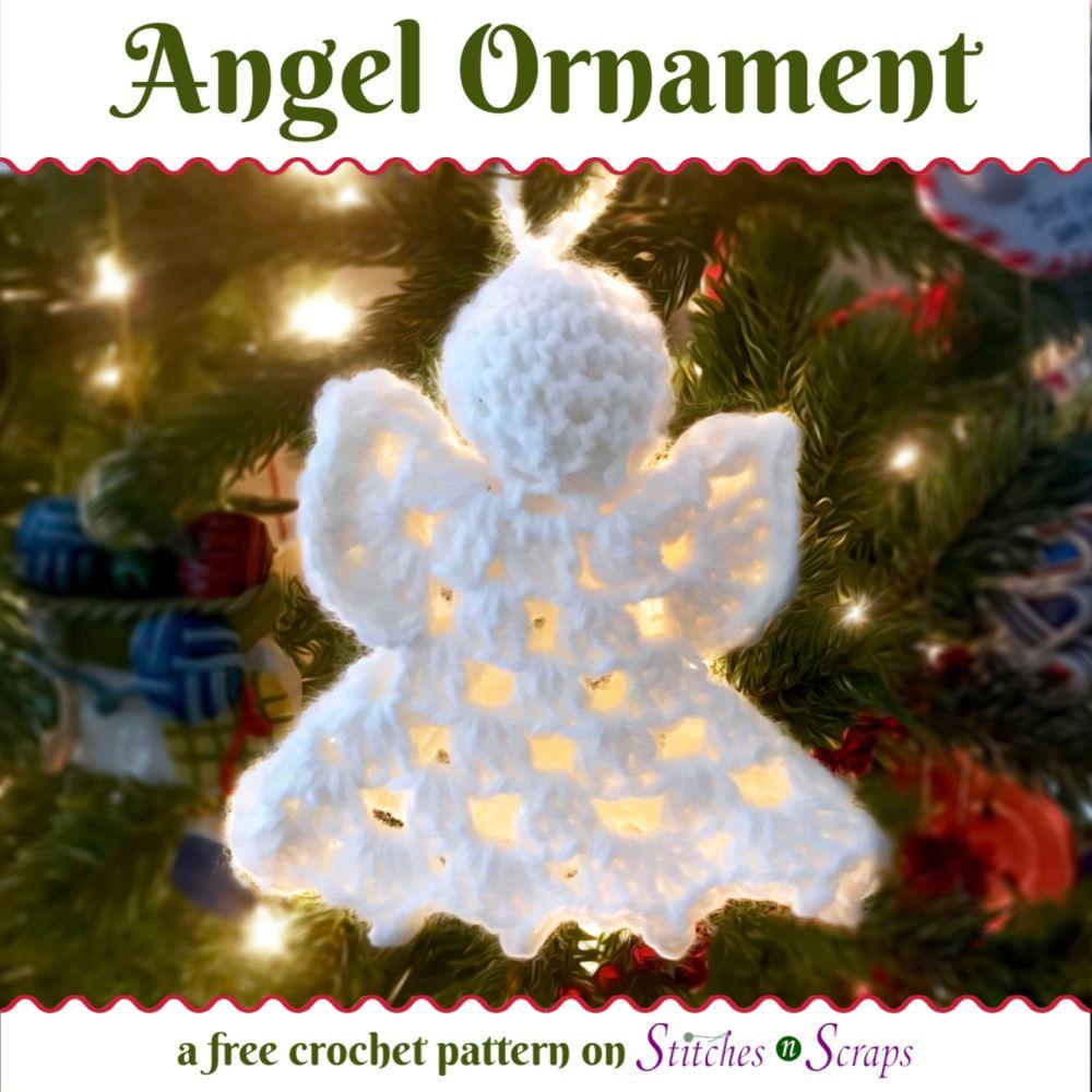 Free Pattern Angel Ornament Crochet Christmas Decorations Crochet Xmas Holiday Crochet