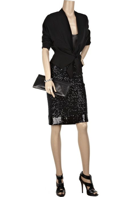 cbd26ce93b0e Donna Karan s black sequined cashmere-blend pencil skirt - made for a woman  with some curves too, stunning evening wear, I would change the shoes  though.
