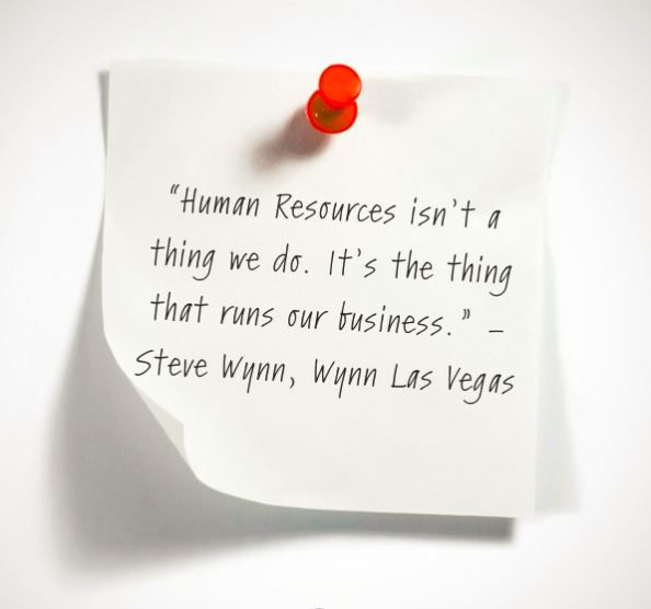 Human Resources isnu0027t a thing we do Itu0027s the thing that runs our - human resource job description