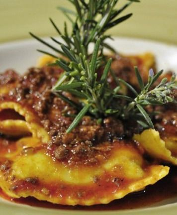 Italian Food:  Traditional Primi:  The meat ravioli are typical of Liguria and are made with veal, eggs, entrails, and herbs. In Sardinia they fill them with fresh pecorino cheese, beetroot, nutmeg, saffron.