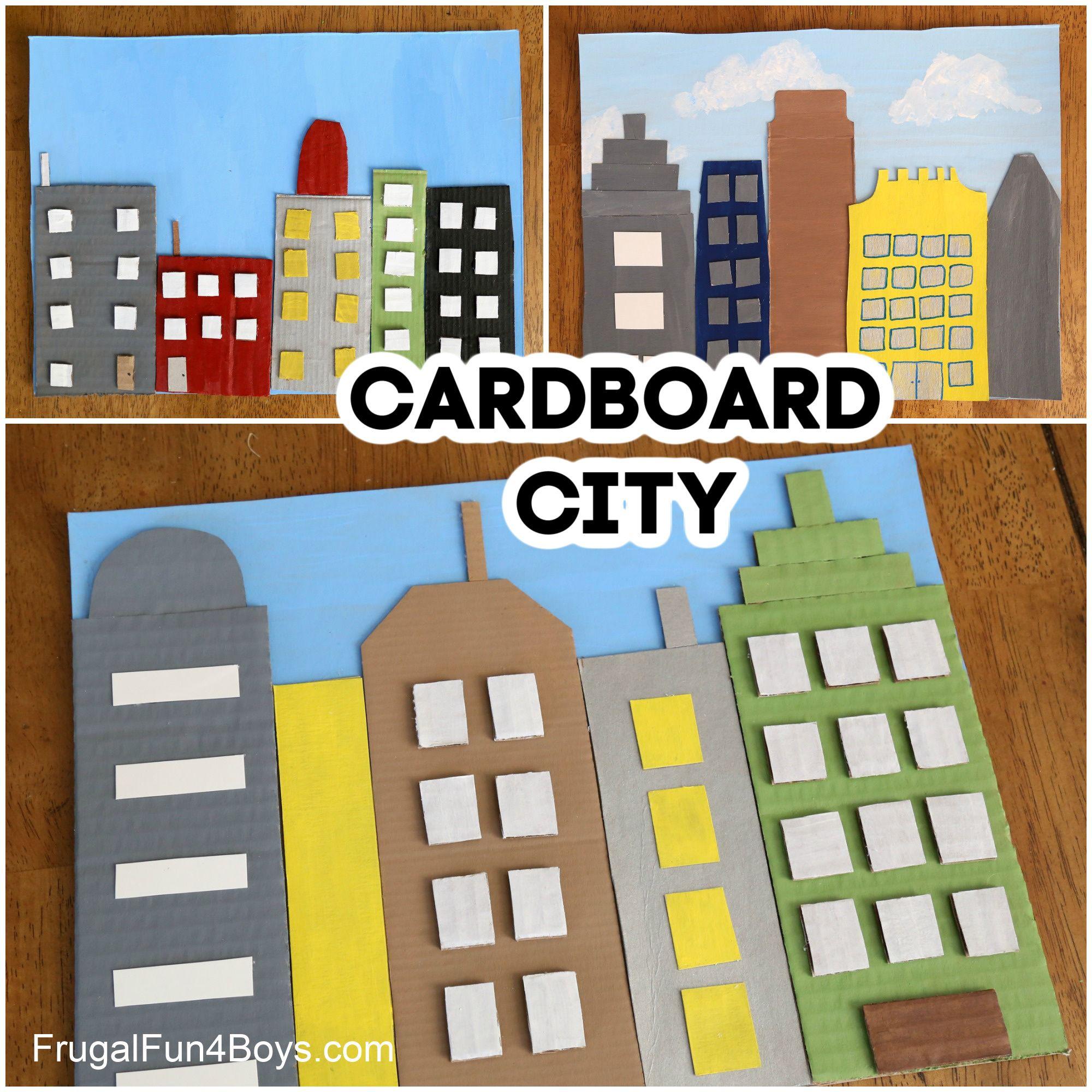 Cardboard City Skyline Collage