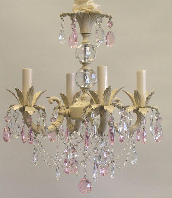 Sabrina Chandelier-Shabby Chic chandelier, girls nursery ...