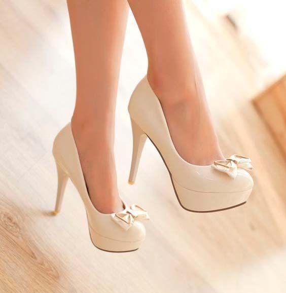 Design Pumps Sweet Bowknot Slim Heel Elegant Shoes Elegant Shoes Pretty Shoes Prom Shoes