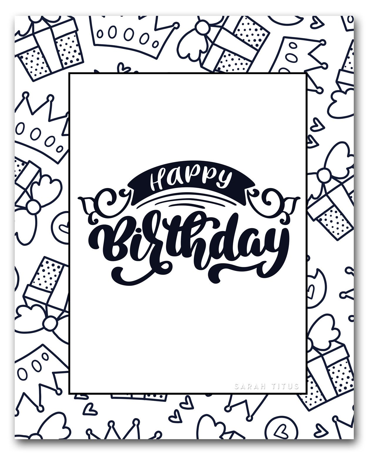 60 Best Free Printable Happy Birthday Coloring Sheets ...