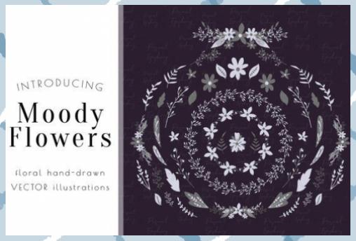Photo of Flower clipart, commercial use, flower clip art, hand drawn flower vector, weddi …