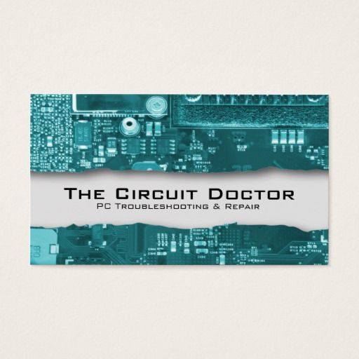 Computer Repair Business Card Electronic Circuits Zazzle Com Computer Repair Business Computer Repair Electronics Circuit