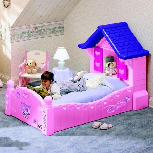 Peuterbed Little Tikes.Roze Cozy Cottage Peuterbed Bed In De Vorm Van Een Huisje Met Een