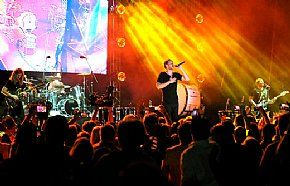 Imagine Dragons perform at Hard Rock Hotel Riviera in Mexico Jan. 20. (Diane Bondareff/Invision for Hard Rock International/AP Images)