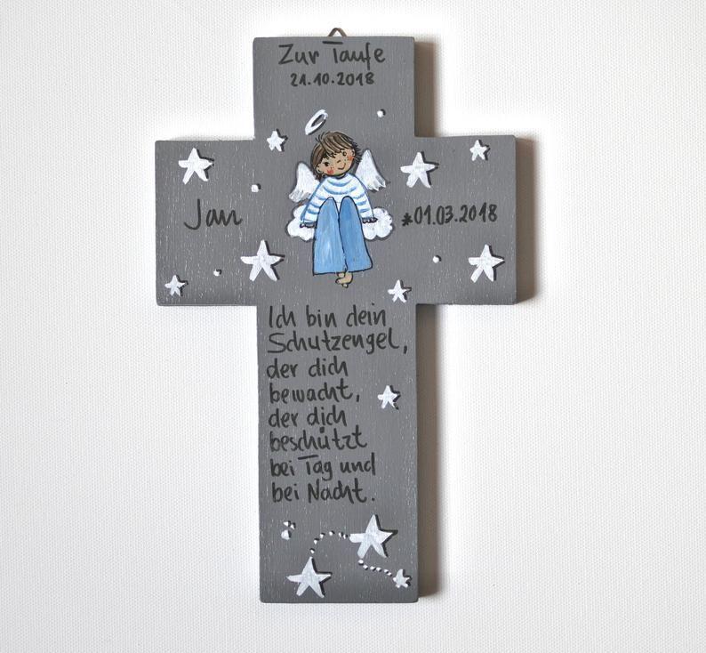 Kinderkreuz Taufgeschenk Jungen Geburt Schutzengelkreuz
