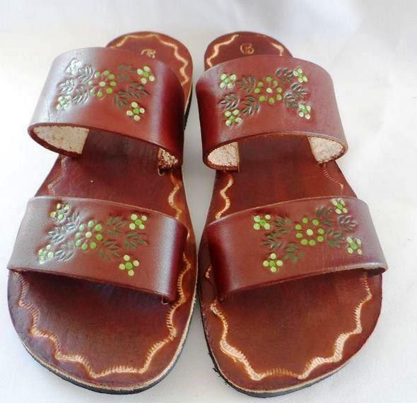 ad59886316579 Leather Women Handmade Mexican Sandals Genuine Leather Mexican Sandals Sizes  Available   Mexico US 24 7 25