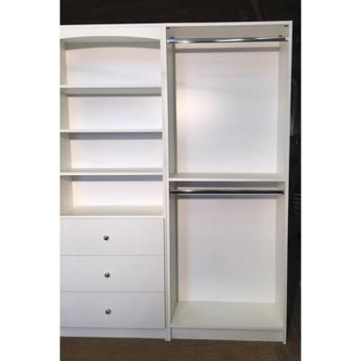 Wardrobe Hanging Closet Storage System 14 In D X 32 In W X 84 In H Gray Melamine Wood 33811 The Home Depot Closet Storage Systems Closet Storage Hanging Closet Storage