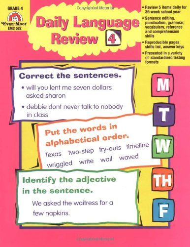 Daily Language Review, Grade 4 | For the Home | Textbooks