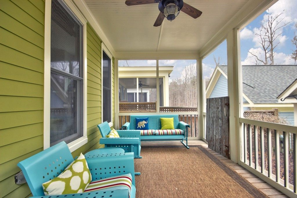1143 Great Ridge Parkway, Chapel Hill. Front Porch Decorated With Retro  Furniture Home For