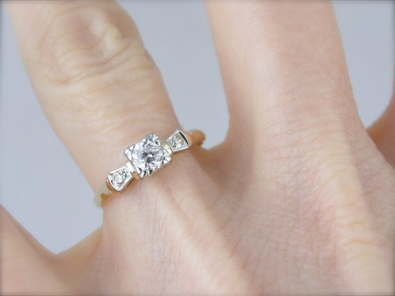 Classic Style Early 1940 39 S Engagement Ring Xx24ky N 1940s Engagement Ring Vintage Engagement Rings Engagement Rings