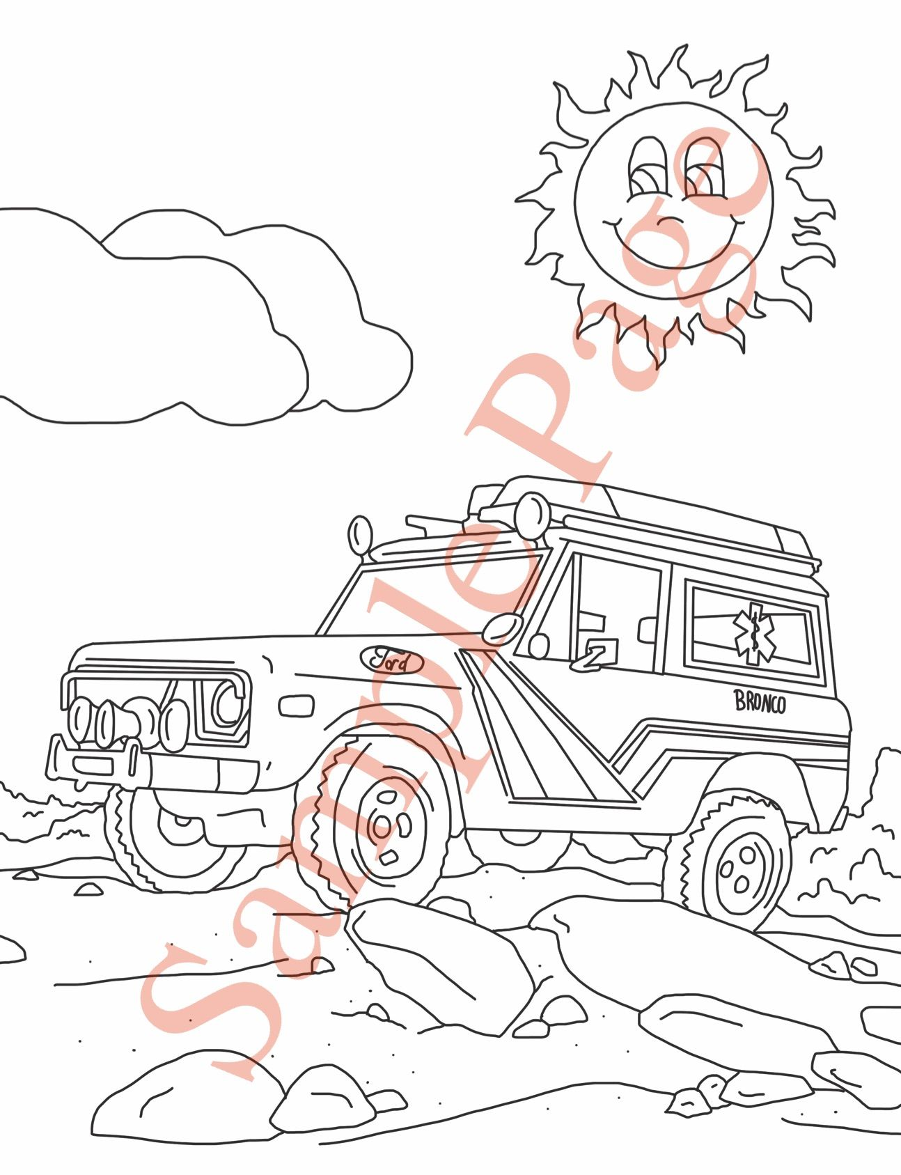 A Page From Our Early Bronco Coloring Book Vol 1 Found At
