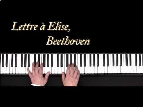 youtube lettre à elise Lettre à Elise, Beethoven , cours de piano n°1, Méthode Bernachon  youtube lettre à elise