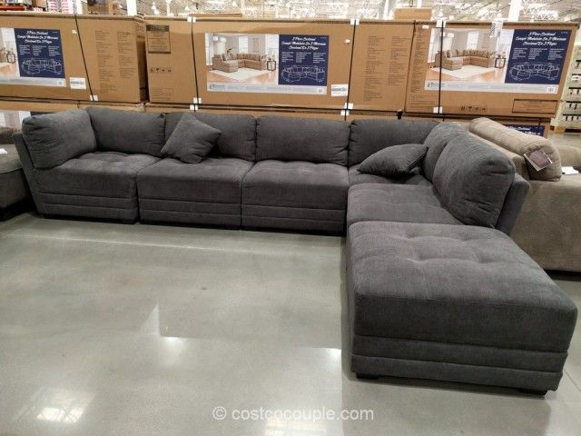 6-Piece Modular Fabric Sectional Costco | Modular sectional ...