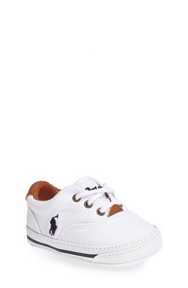 Ralph Lauren Layette 'Vaughn' Crib Shoe