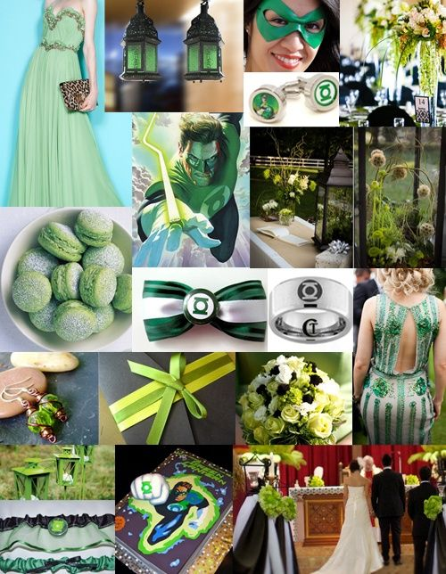 Green Lantern Inspiration Board
