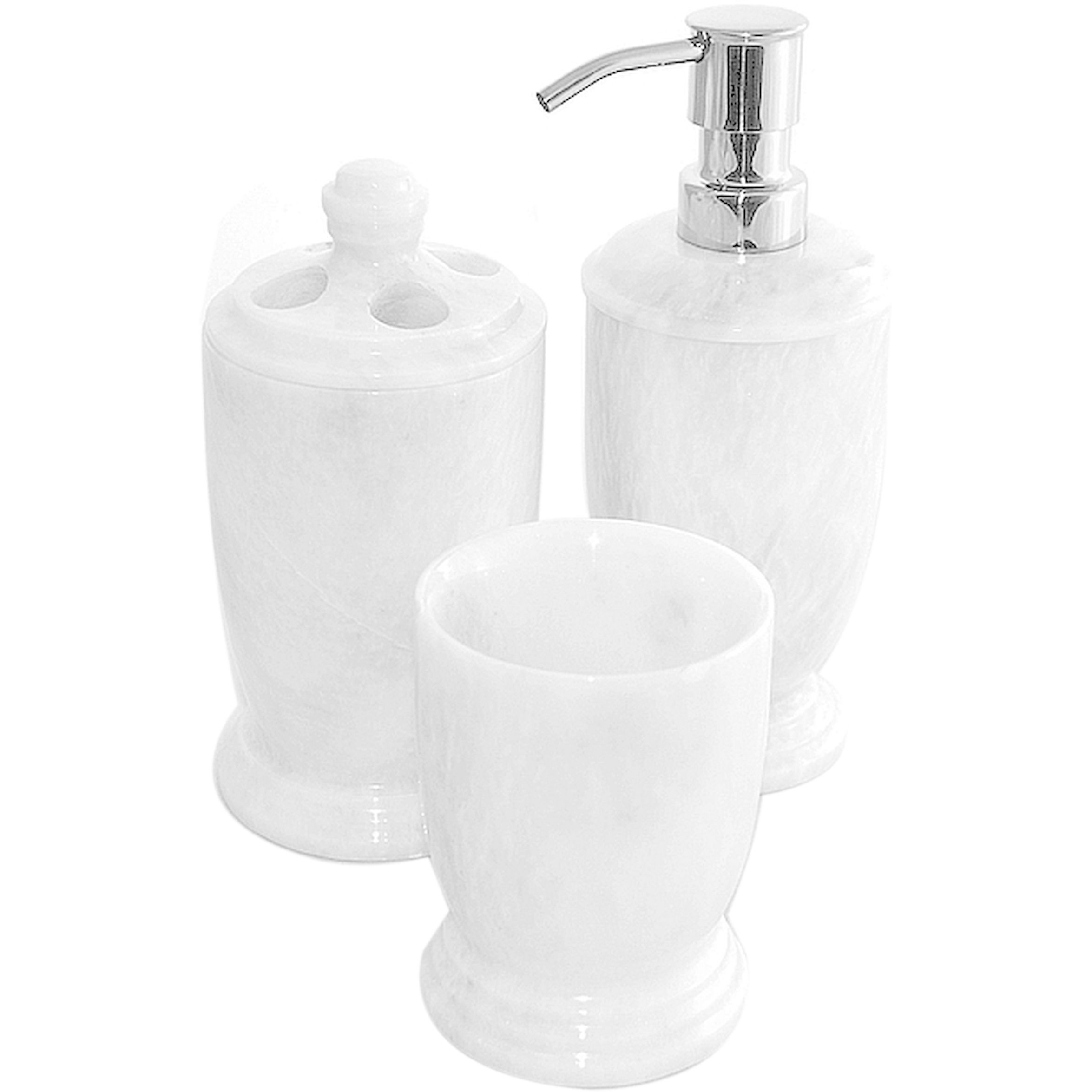 Home Decor Marble 3Piece Bathroom Accessory Set of Atlantic
