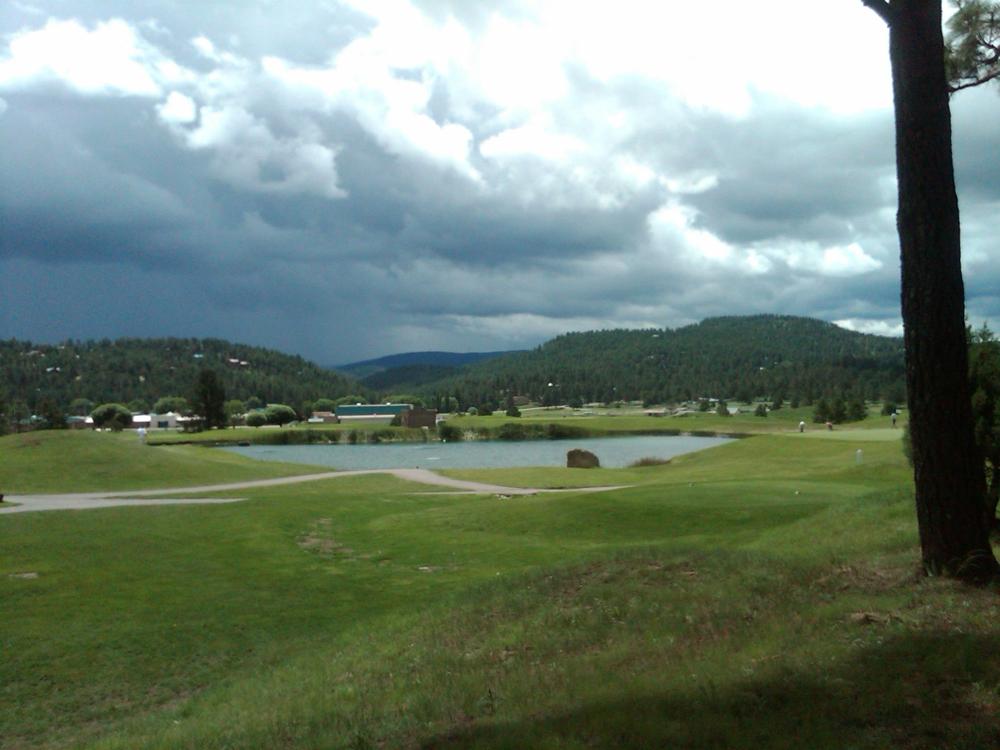View from my vacation place in Ruiodoso, NM