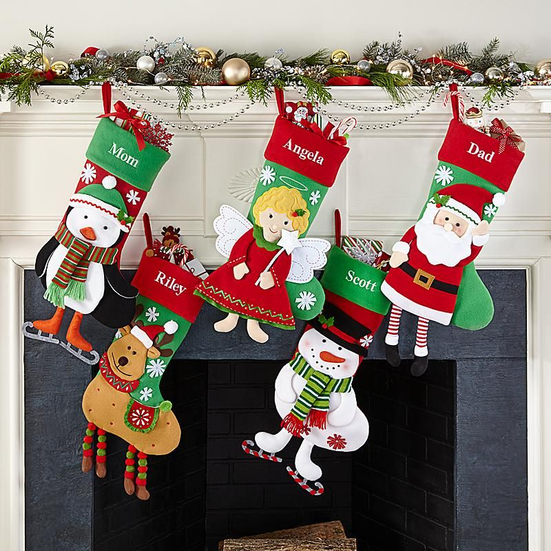 Dancing Character Personalized Stocking Unique Christmas