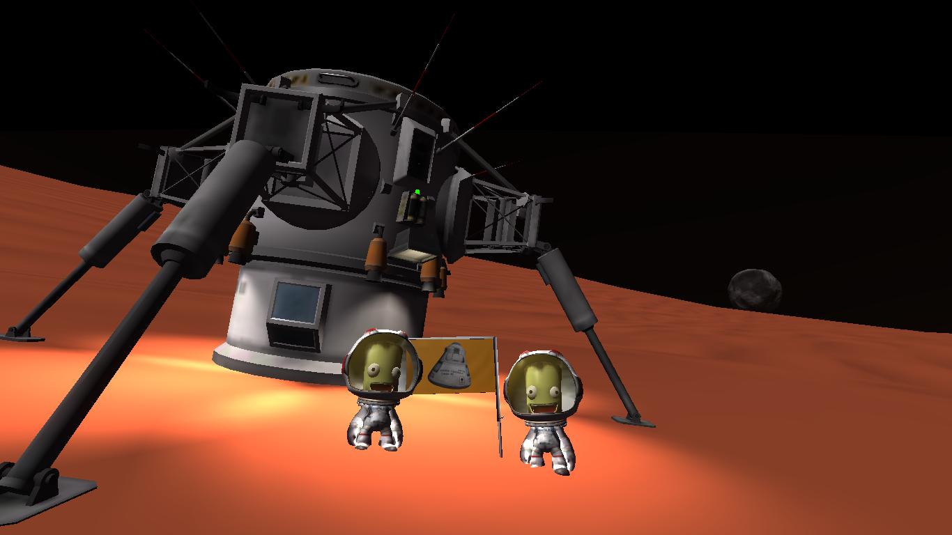 Simple Duna lander. | Kerbal space program, Space program ...