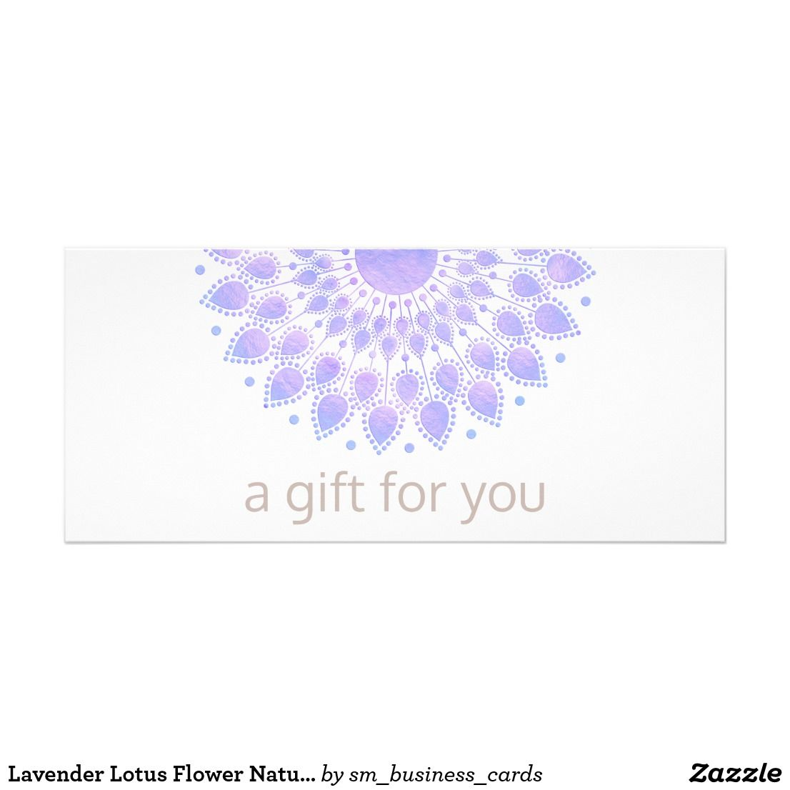 Lavender Lotus Flower Natural Spa Gift Certificate | Spa gifts ...