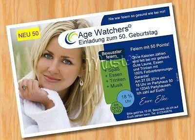einladungskarten geburtstag age watchers lustig 18 30 40 50 60 70, Einladungen