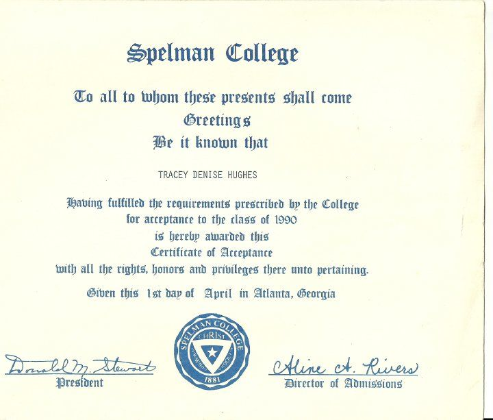 This Is Like The Acceptance Letter I Received. | Spelman | Pinterest