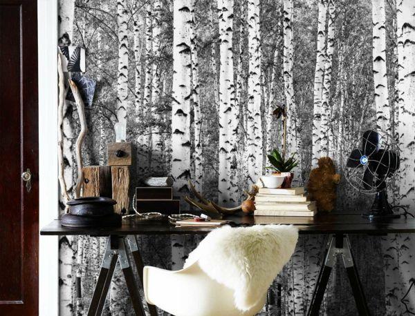 tapeten schwarz wei sind sie daf r oder eher dagegen wandgestaltung pinterest tapete. Black Bedroom Furniture Sets. Home Design Ideas