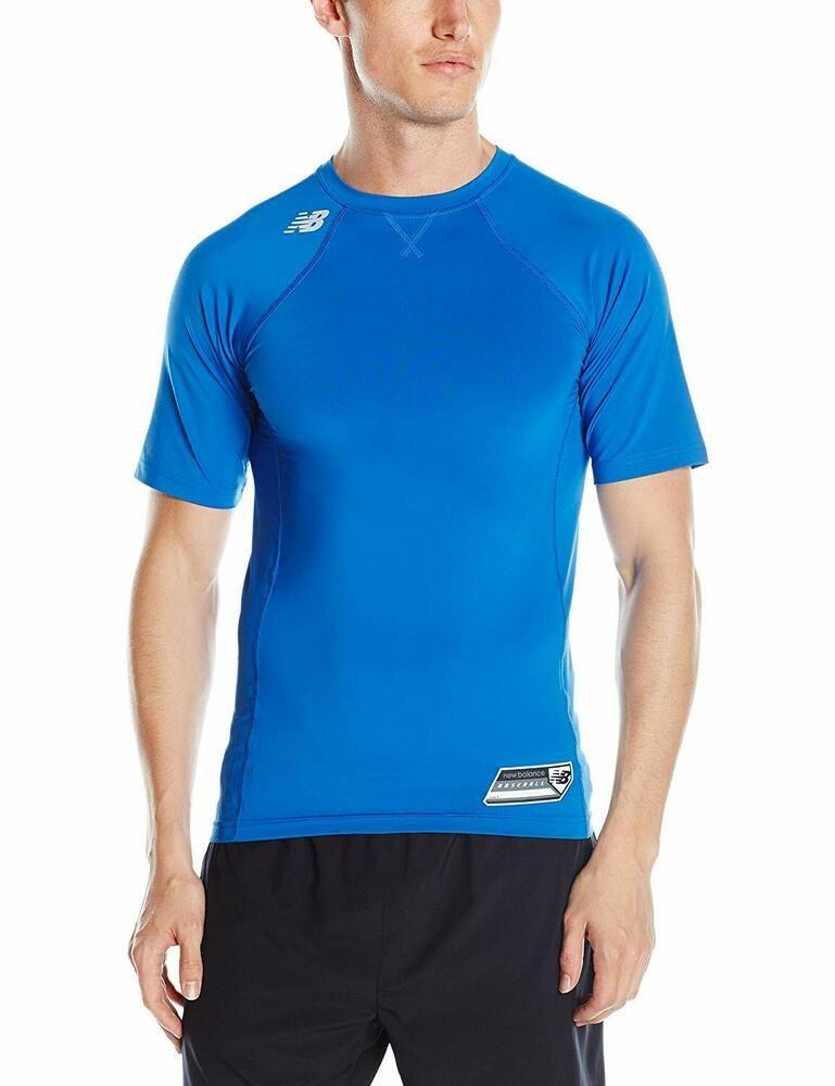 90b5ee5a New Balance Men's X- Large NB Dry Short Sleeve 3000 Baseball Shirt Royal  Blue #NewBalance #ActivewearShortSleeve