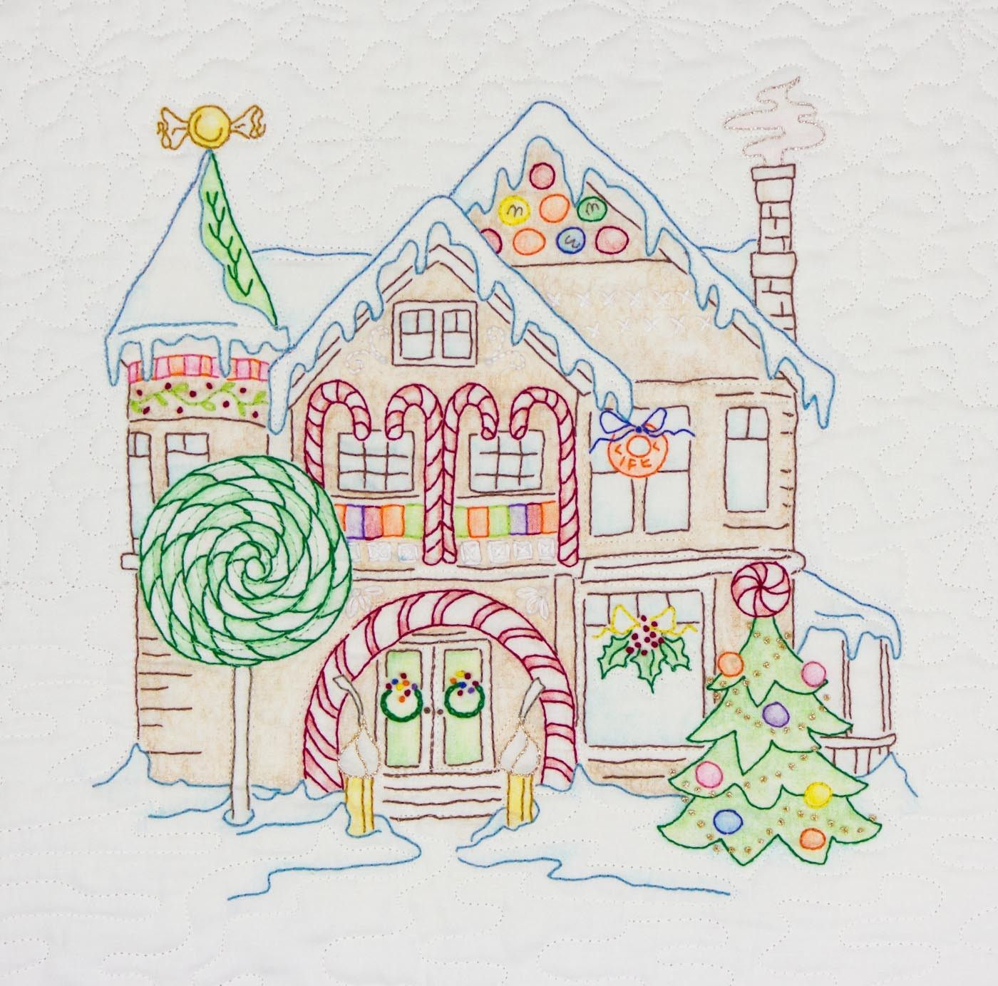 Amy Bradley Designs Gingerbread Houses: Gingerbread Block Of The Month