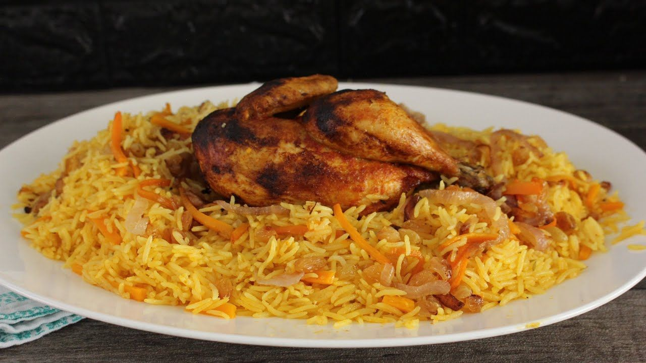 رز بخاري ولا الذ مطعم Youtube Food Diner Chicken