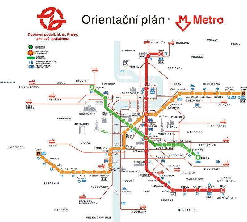 Prag Karte Offentliche Verkehrsmittel.Prague Subway Map Arch Praque In 2019 Prague Map Prague