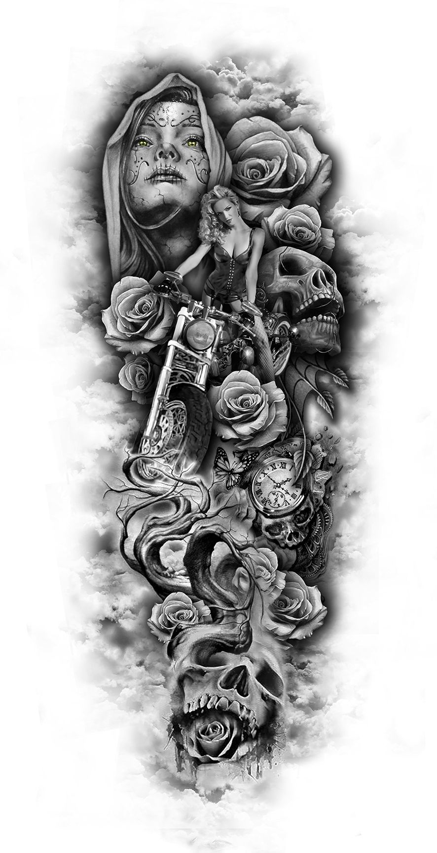 www.customtattoodesign.net wp-content uploads 2014 04 full-sleeve-design...jpg