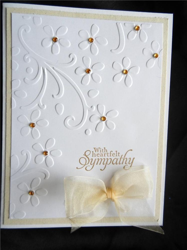 handmade sympathy card using stampin up with heartfelt