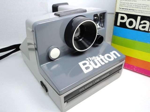 Polaroid Sx 70 The Button Camera Instant Film Vintage With Box And Manual Works Button Camera Instant Film Camera