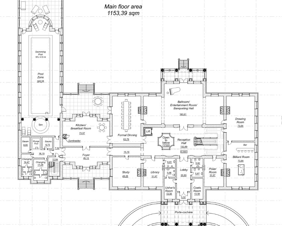 Homes of the rich reader ann sent me a magnificent mega for Homes of the rich floor plans