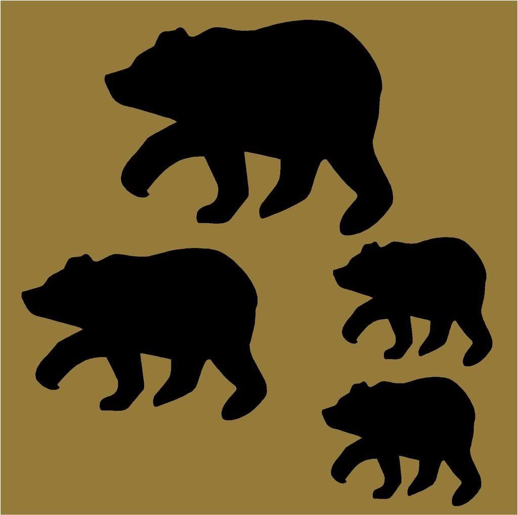 PRIMITIVE STENCIL BLACK BEAR SHAPES* 3 SIZES* | Prim