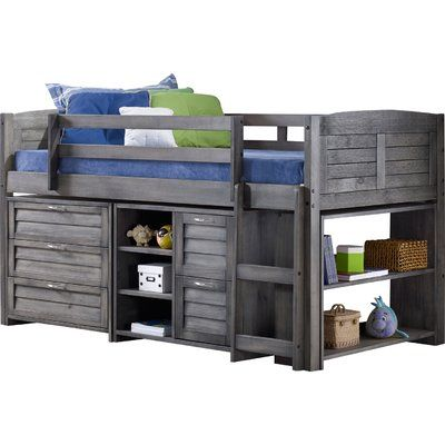 Lille Twin Over Full Bunk Bed With Stairway Chest In 2019