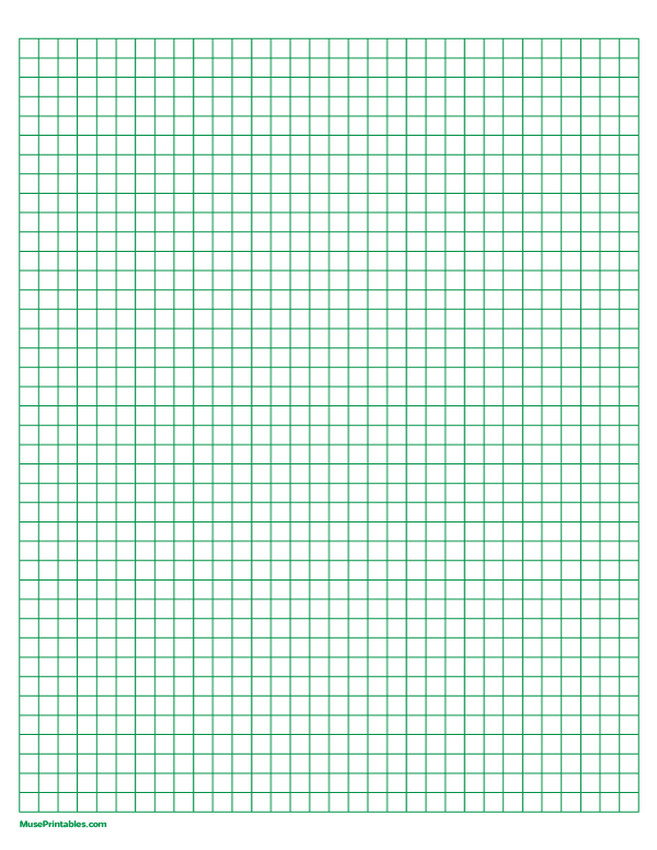 Free Printable Green Graph Paper The Paper Includes 1 4 Inch Squares And Is Sized For Letter Paper Download It At Https M Graph Paper Letter Paper Graphing