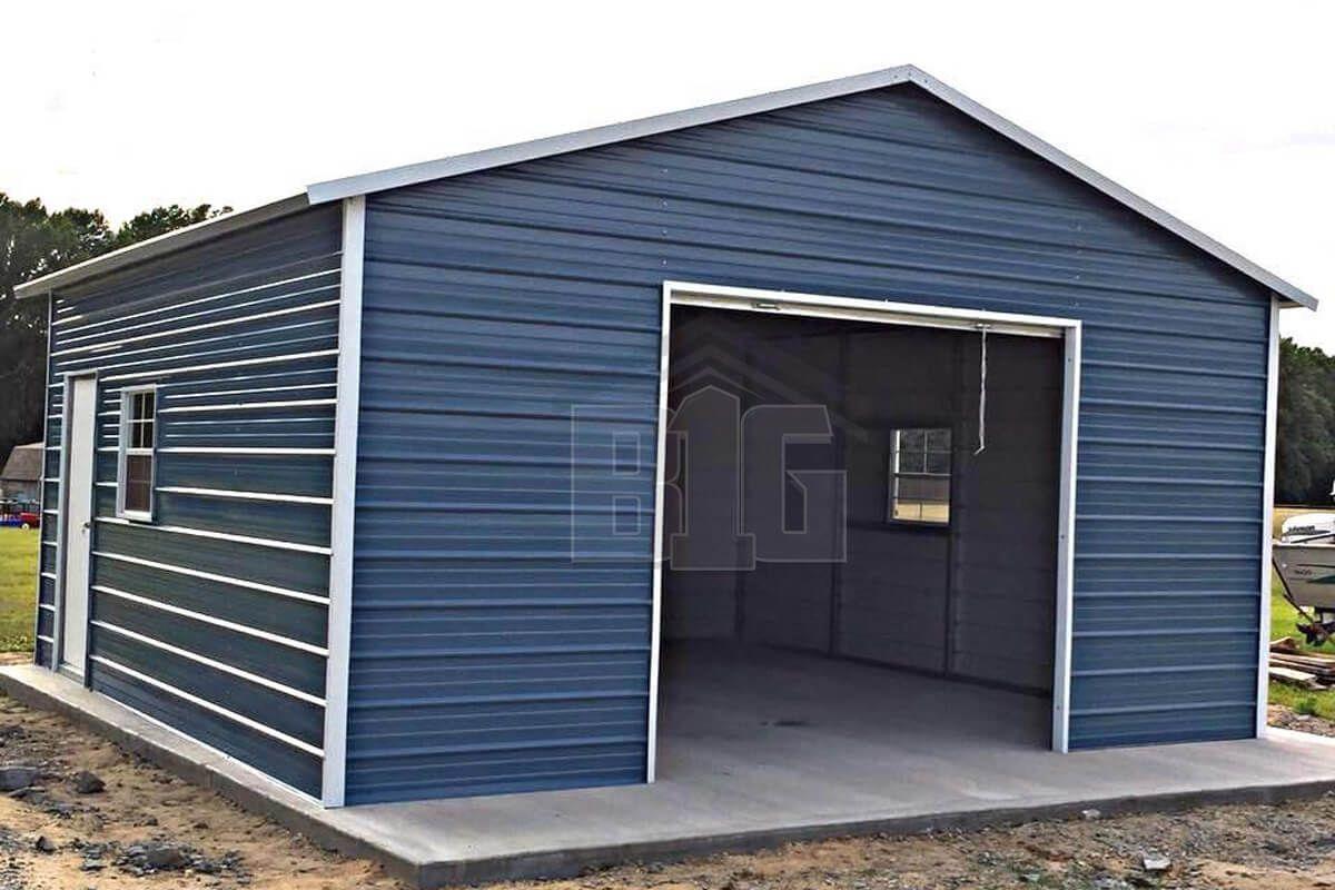 The Aubrey 18x20x9 Big Buildings Direct In 2020 Garage Door Design Metal Garage Buildings Garage Door Framing