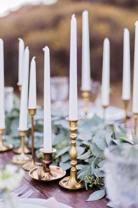 Brass Candlesticks , Brass Candle Holder , Vintage Brass , Boho Wedding, Sold Individually Found By Foo Foo La La