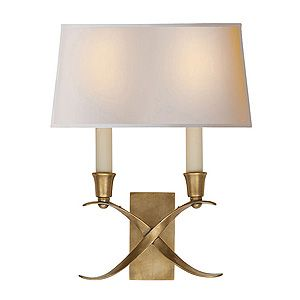 Visual Comfort Small Cross Bouillotte Sconce Gracious Home