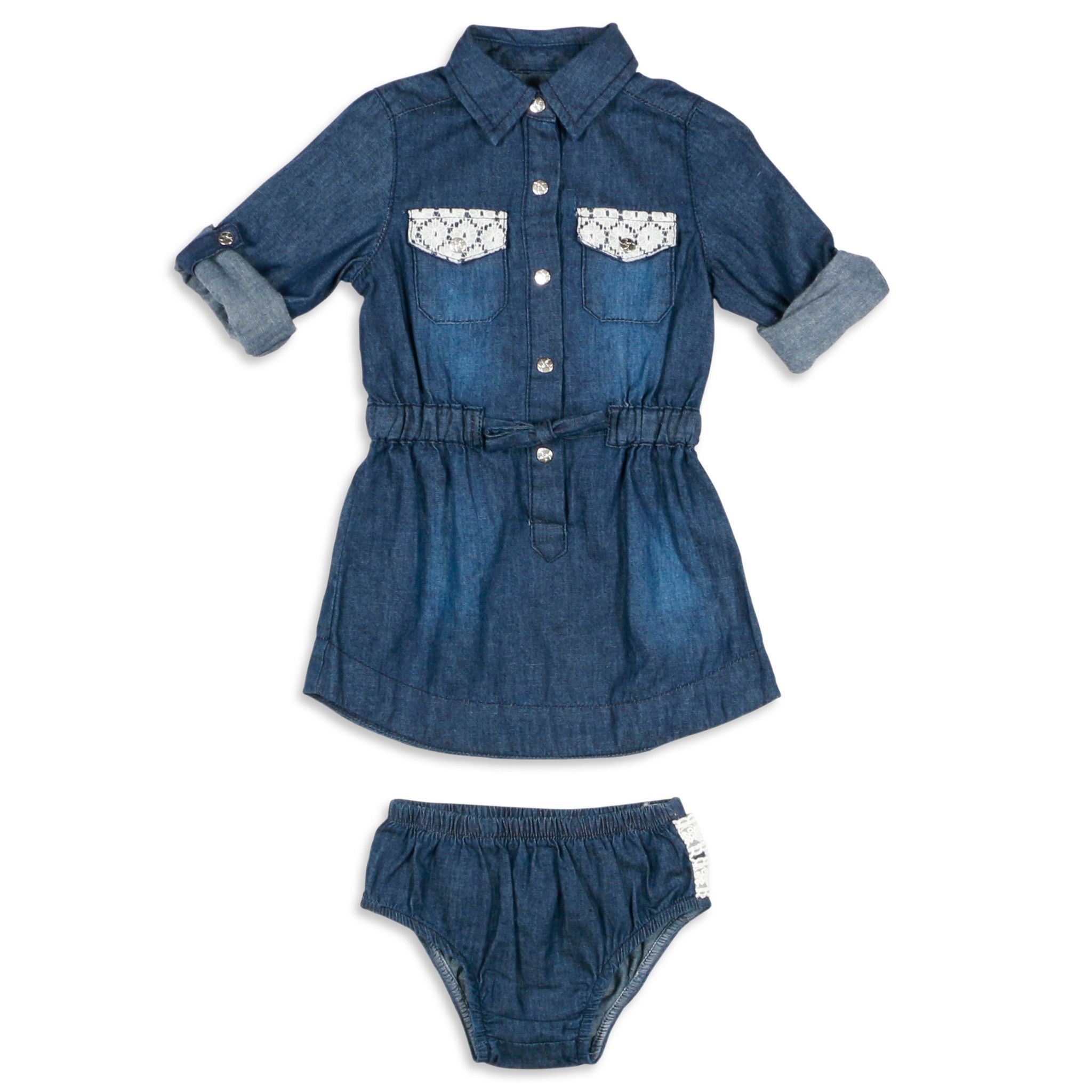 Jessica Simpson Baby Girls 12 24 Months Denim Dress